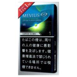 画像1: メビウス・プレミアムメンソール・オプション・マスカットグリーン・ワン・100's・スリム